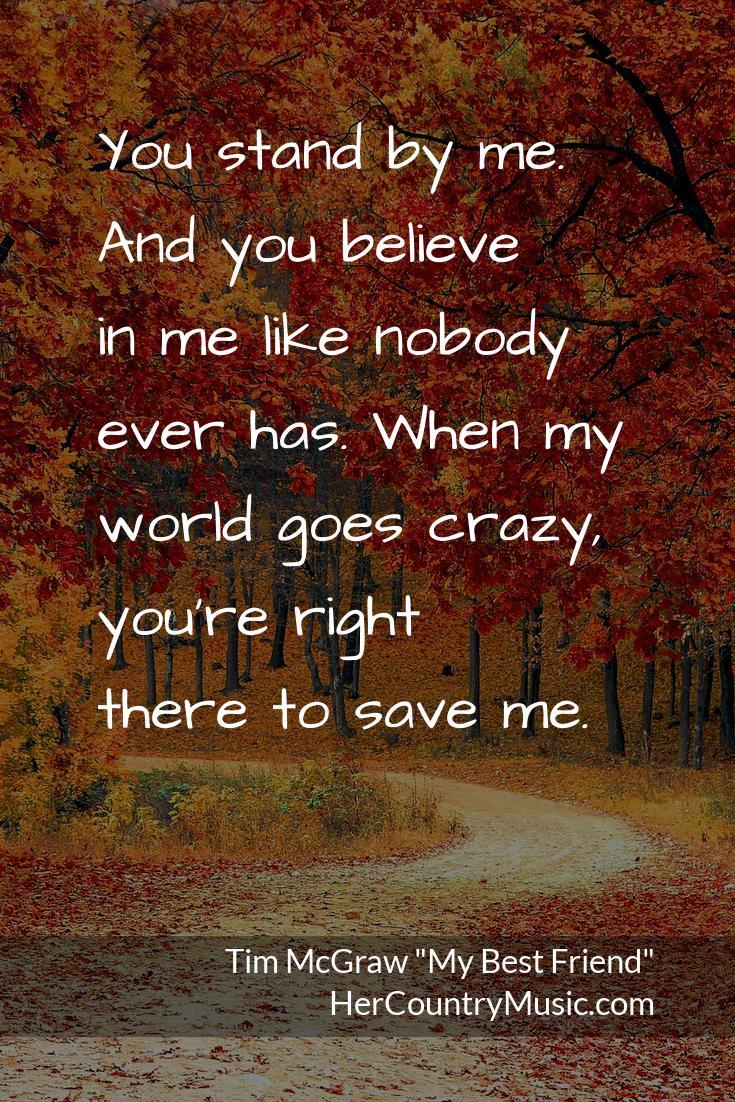Tim McGraw My Best Friend Lyrics at HerCountryMusic.com