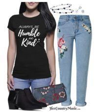 Always be Humble and Kind tee at HerCountryMusic.com