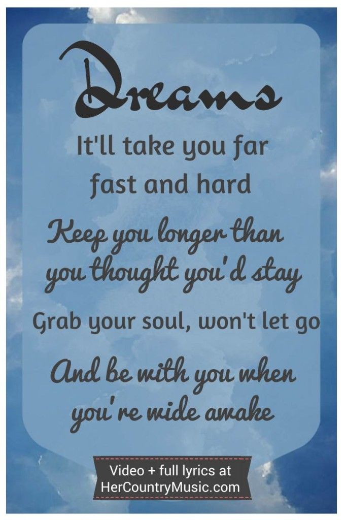 Dreams Lyric graphic