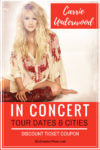 Carrie Underwood tour dates at HerCountryMusic.com | Real time updates to Carrie Underwood concerts + ticket coupon code.