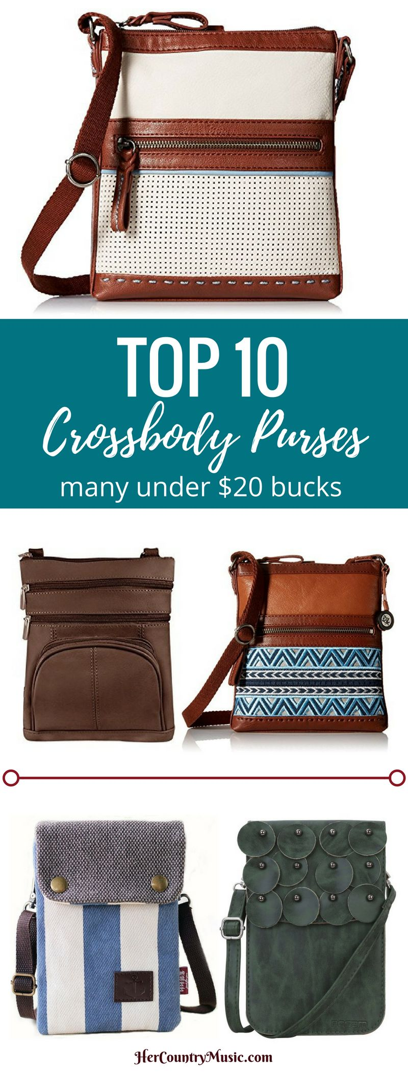 Top Crossbody Purses for your next country music concert at HerCountryMusic.com