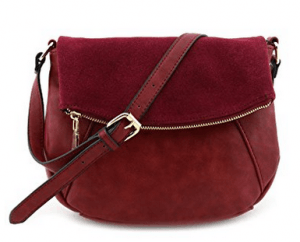 Red suede crossbody purse makes the TOP 10 picks for crossbody purses to wear to your next country music concert. HerCountryMusic.com
