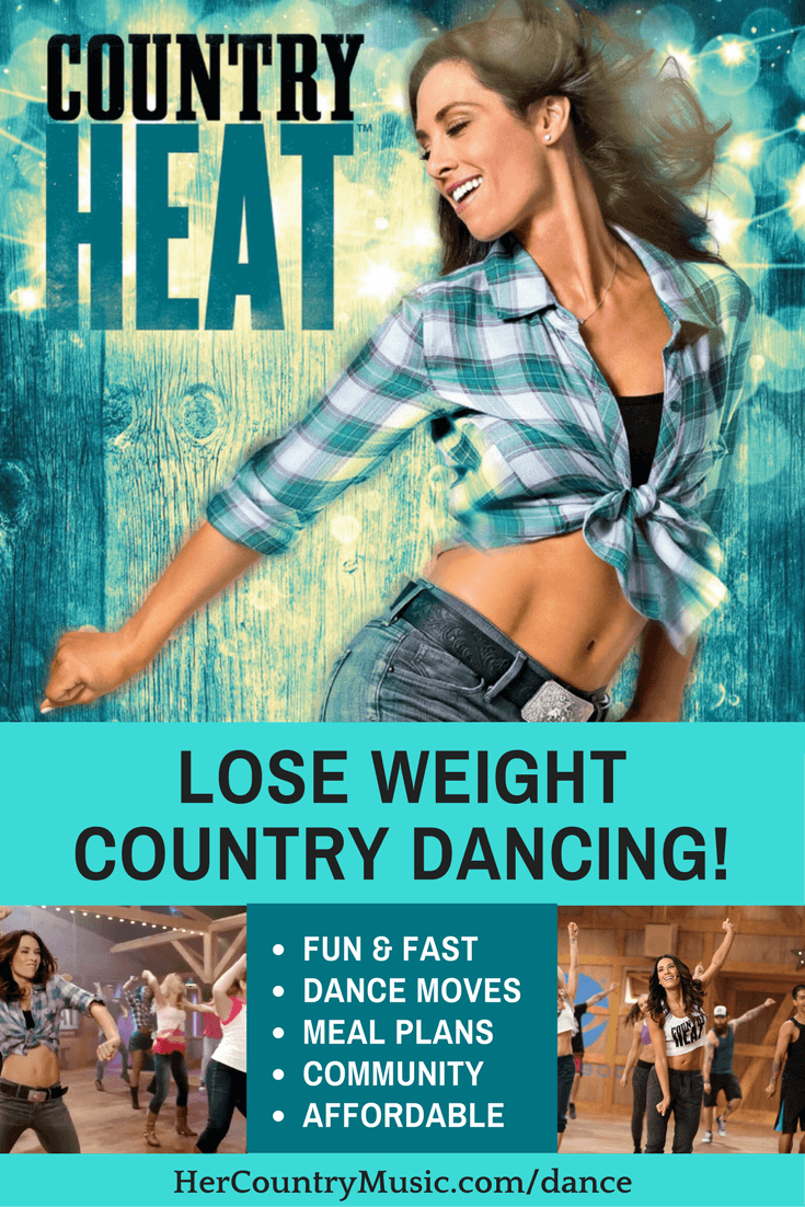 Country Heat Lose Weight Country Dancing at https://HerCountryMusic.com/dance