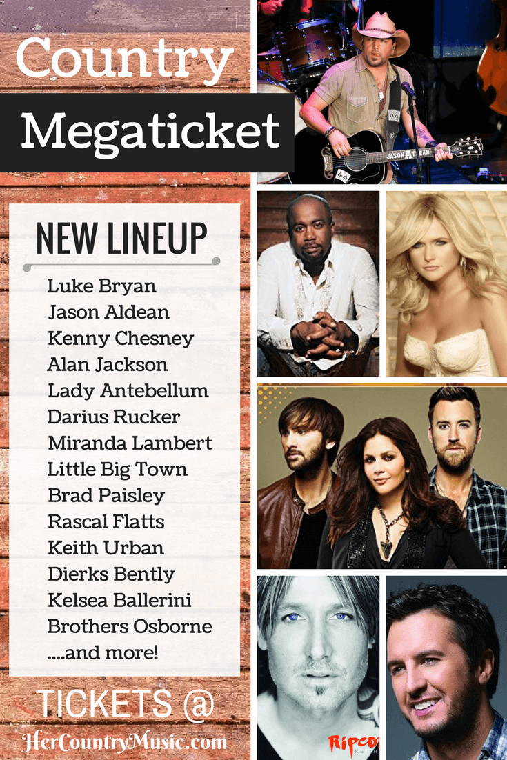 Country Megaticket Concert Dates and Tickets at HerCountryMusic.com